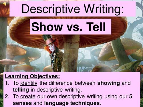Alice in Wonderland - Show vs Tell in Descriptive Writing