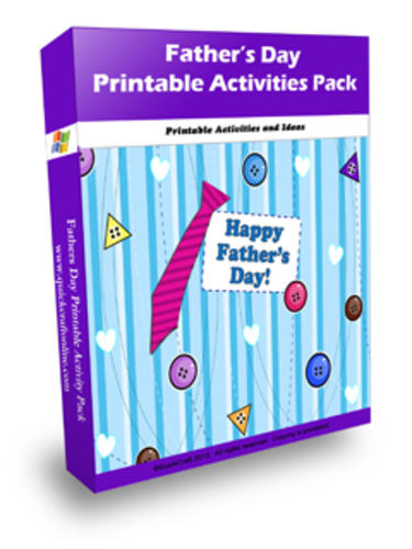 Father's Day Activity Pack with editable templates