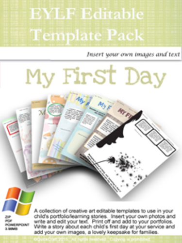 My First Day editable Pack