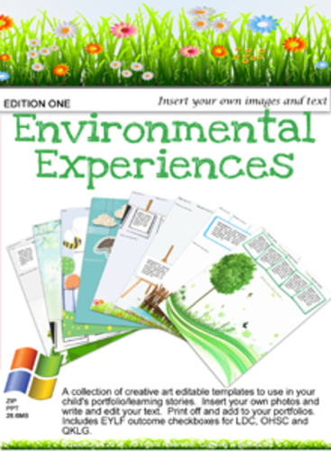 Environmental Experiences Editable Pack