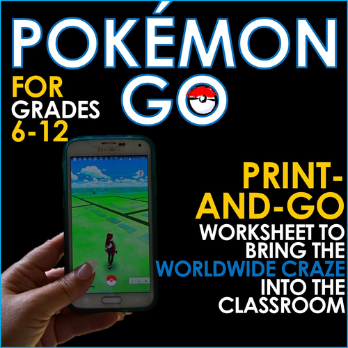 POKEMON GO - Bring the Worldwide Craze Into the Classroom! Worksheet for Research and Writing Skills