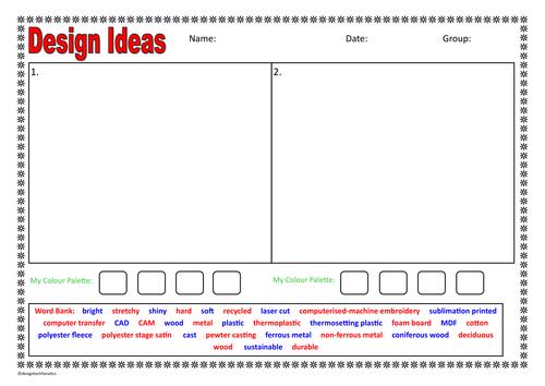 Stem Design Planning Template  Different Design
