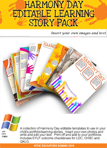 Harmony Day Editable Pack