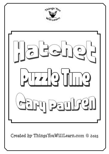 Hatchet Crossword Puzzle Pack