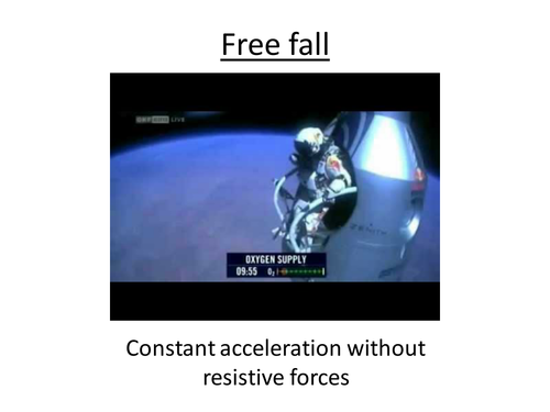 Physics A-Level Year 1 Lesson - Free Fall (PowerPoint AND lesson plan)