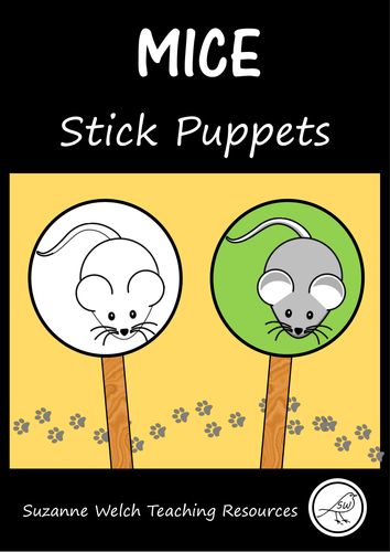 Stick Puppets  -  MICE / MOUSE