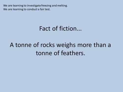 Y4 States of Matter - Investigating Freezing and Melting - Lesson 3 (Resources, PP and Planning)