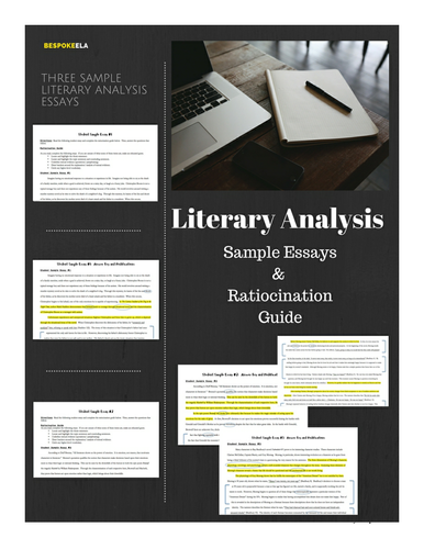 sample literary analysis essays ratiocination guide by  sample literary analysis essays ratiocination guide by bespokeela teaching resources tes