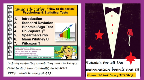 A-Level  and IB Psychology 'STATS@PSYCH Series': Statistical Tests + Evaluating Correlations all in one bundle: