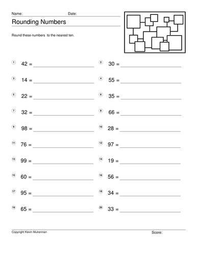teaching resources worksheets rounding numbers to the nearest ten by auntieannie teaching. Black Bedroom Furniture Sets. Home Design Ideas