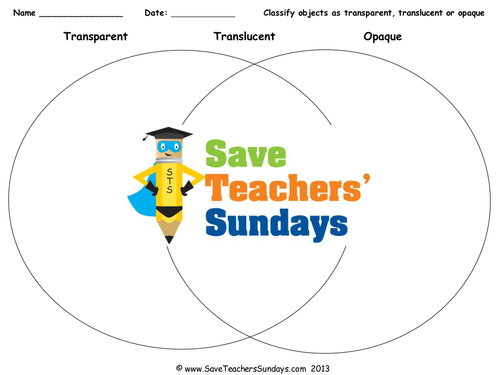 transparent translucent or opaque ks2 lesson plan and worksheet by