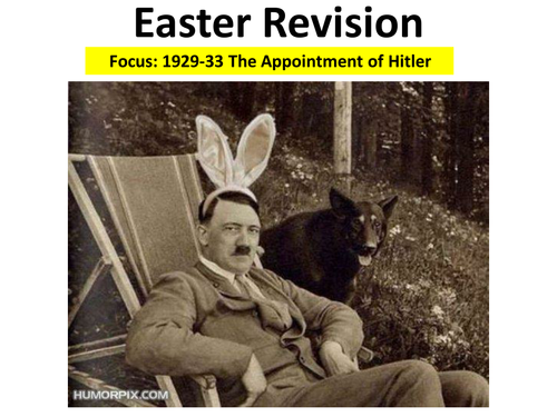 Democracy and Nazism -  AS Easter Revision