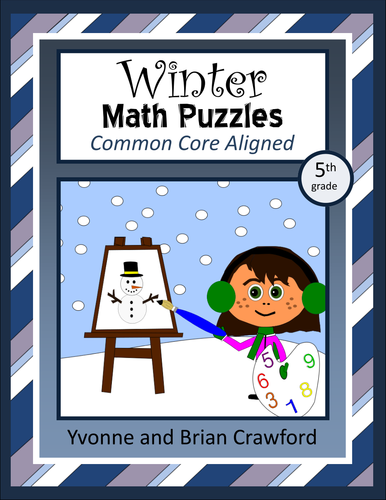 Winter Math Puzzles - 5th Grade