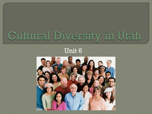 Cultural Diversity in Utah - Utah Studies
