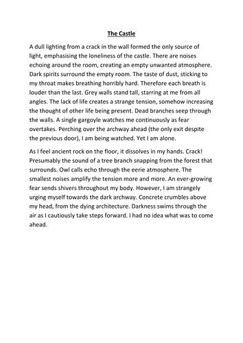 KS3 English Descriptive and Narrative Writing Resources