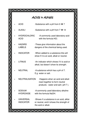 Science Word Bank Glossaries