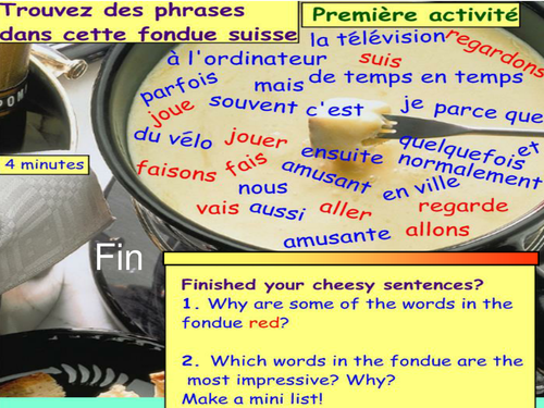 Swiss themed conjugation of the present and near future in the 1st person - free time activities