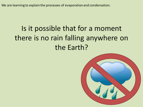 Y4 States of Matter - Making a cloud/water cycle - Lesson 7 (Resources, PP and Planning)