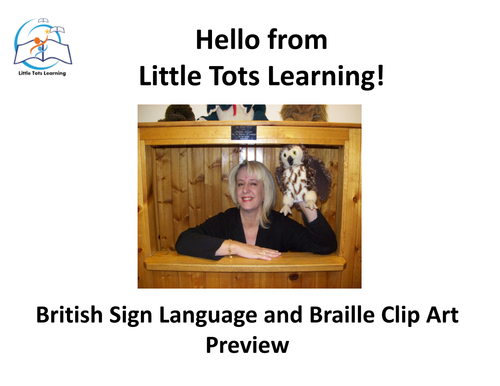 British Sign Language (BSL) and Braille Clip Art