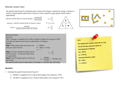 Differentiated Specific Heat Capacity Calculation Questions by – Specific Heat Capacity Worksheet