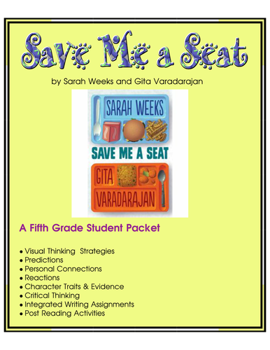 Save Me a Seat - Fifth Grade Reading Group Unit