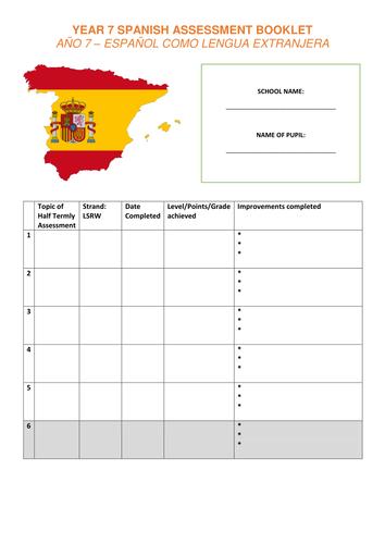 New GCSE KS3 Assessments - Year 7 Spanish