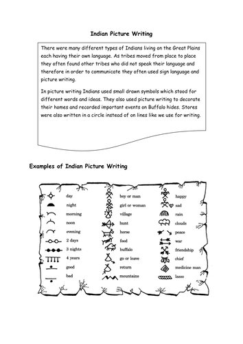 Indian Picture Writing.