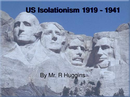 US Isolationism PowerPoint