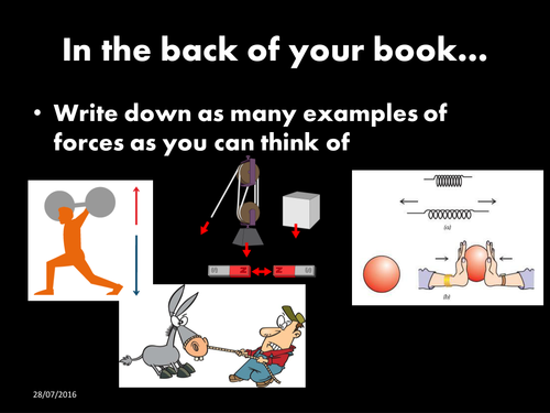 AQA KS3 Physics [Forces]: L1 Intro and Resultant