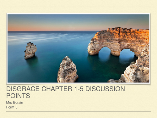 Disgrace by J M Coetzee - Chapters 1 - 5