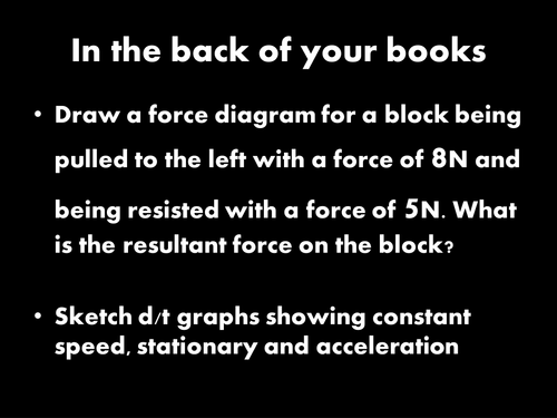 AQA KS3 Physics [Forces]: L4 Acceleration