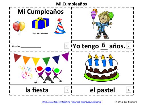 Spanish Birthday 2 Emergent Reader Booklets - Mi Cumpleaños