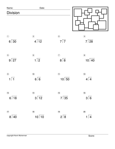 Division Worksheets for Primary School Children Maths Mathematics ...