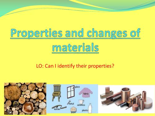 Materials lesson resources