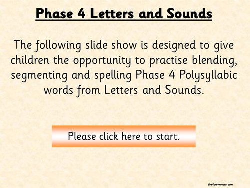 Phonics Letters And Sounds Phase 4 Polysyllabic Words Pack 3 By