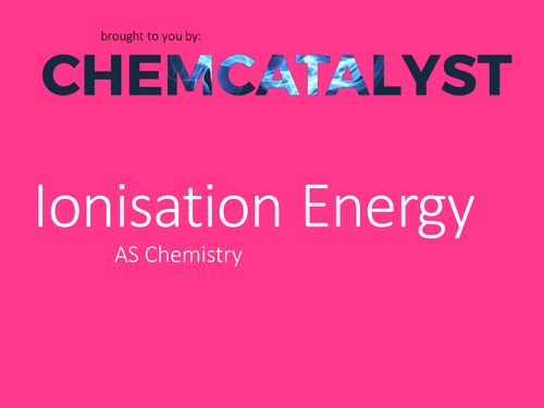 AS Chemistry - 1st Ionisation Energy