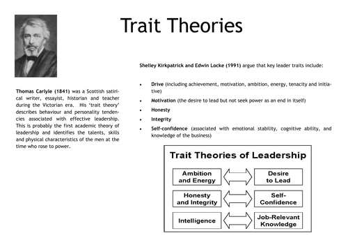 Investigating leadership theories