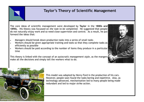 Investigating management theories