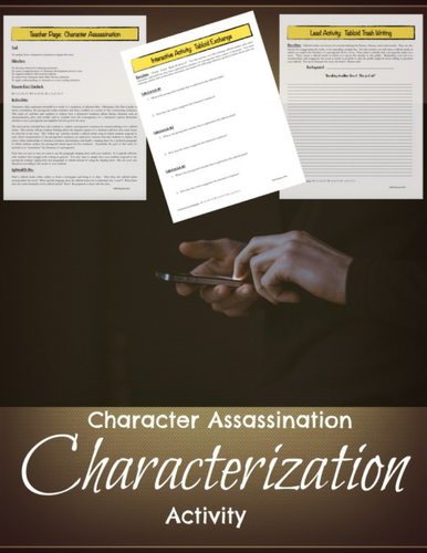 Characterization Mini-lesson:  Analyzing Character Flaws