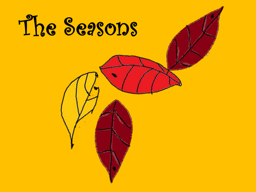 The Seasons song  with percussion parts for the non specialist . Worksheet and follow up ideas