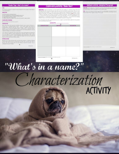 Analyzing Characters Through Names:  A Characterization Mini-lesson