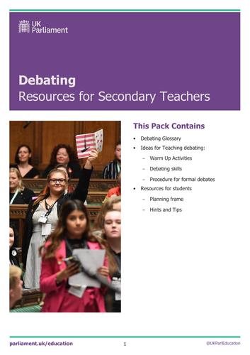 Secondary Debating Resource