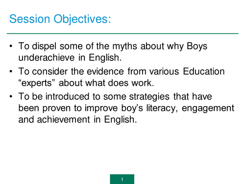 Training - Gender Gap in English - English For Boys - Strategies to Use
