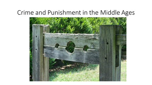 crime and punishment in the middle ages What's the difference between middle ages crime and punishment and crime and punishment now days its for an essay any help would be appreciated :).