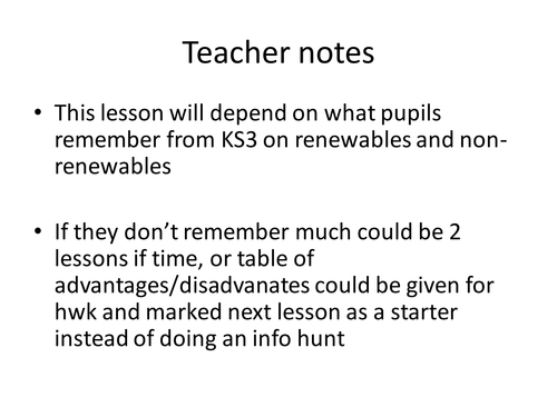 Renewable and non-renewable energy AQA 2018 by lrcathcart | Teaching ...