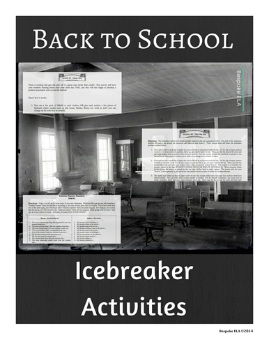 Back to School Icebreakers for the Secondary Classroom