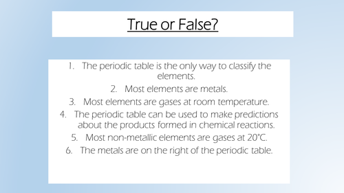 AQA 2016 chemistry lesson 3: the development of the periodic table