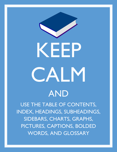 Textbook Tips: Keep Calm and Use Informational Text Features