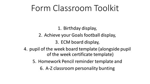Form tutor, patoral and ECM toolkit. Display board ideas for the classroom