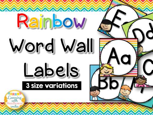 Word Wall Labels - Rainbow